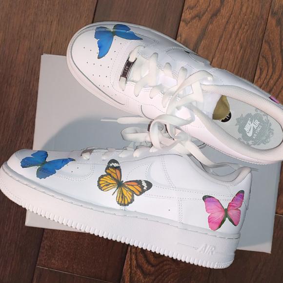 Nike Shoes   Butterfly Custom Nike Af